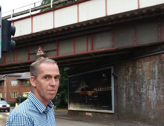Paul K at Fectham railway bridge