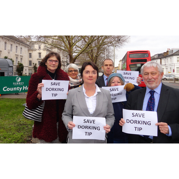The Liberal Democrat Team opposing the closure of the Dorking Tip ()