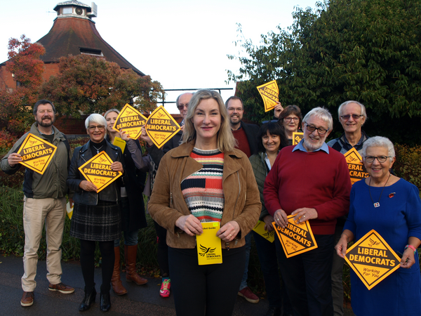 Claire Malcomson and other LibDem councillors (Mole Valley Liberal Democrats)