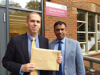 Raj and Paul with Molebridge petition