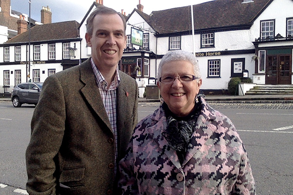 Paul Kennedy with Margaret Cooksey ()